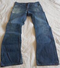 "Mens LEE RYDELL Jeans Waist 32"" Leg 32"" W32 L32 Blue Straight Leg - Freepost"