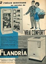 I- Publicité Advertising 1960 Le Refrigerateur et machine à laver  Flandria