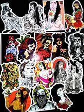 20, Sticker, Decals, 2x3, Tattoo, Sugar Skulls, Roses, Vinyl , Ladies, Gothic