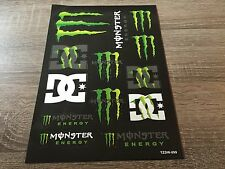 stickers monster energy moto voiture autocollant planche A4