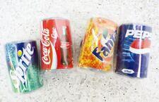 FRIDGE MAGNET OF 4 SMALL CANS COKE PEPSI FANTA SPRITE 4CM MINIATURE COLLECTIBLE