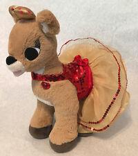 "Build A BEAR RUDOLPH TALKING LIGHT UP CLARICE Reindeer Plush Christmas 16""  (24)"