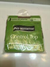 No Nonsense 045/333q2 Tan Control Top Nylons,No 045/333Q2 Pantyhose Tummy/Hips