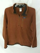 Patagonia Better Sweater 1/4 Zip Brown Fleece Mens L