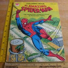 The Amazing Spider-Man 1979 Whitman coloring book Vintage