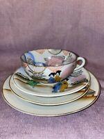 Vintage Japanese Porcelain 4 Piece Tea Set Great Condition