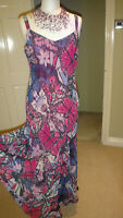 JOANNA HOPE GORGEOUS BUTTERFLY PRINT MAXI DRESS SIZE UK 12