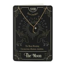 More details for the moon tarot card print & necklace blank greeting card gothic witch