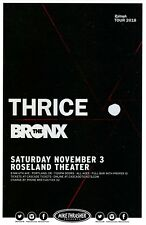 THRICE 2018 Gig POSTER Portland Oregon Concert