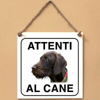 Pudelpointer 2 Attenti al cane Targa cane cartello