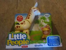 Fisher Price Little People NEW Zoo Animal sounds Big Giraffe movable head food