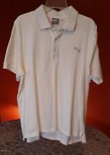 Puma Polo T Shirt White Mens Sport Size XL