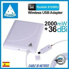 WIFISKY N918,36dbi antena Panel WIFI, 2000mw,2W, MELON N918,NUEVO MODELO