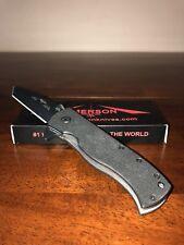 Emerson Knife Flipper Black Plain Edge - 154CM - Prestige Dealer