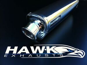 Hawk Triumph 955i 2003 2004 Stainless Steel Tri Oval Exhaust Can Silencer SL