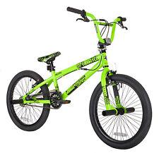 "BMX Trick Bike 20"" Green Boys Mens Free Style Wheel Brakes Gyro Detangler Pegs N"