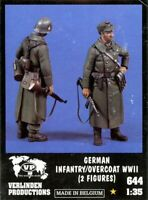 Verlinden 1:35 WWII German Infantry Overcoat 2 Resin Figures Kit #644