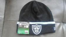 Oakland Raiders New Era Hat Cap Tuque Beanie Mens Womens  New NWT  Tech Knit