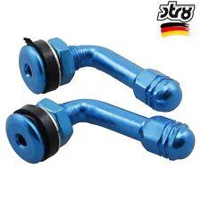 Razzo Blu Metallo Auto Bici Moto BMX Ruote Pneumatici Valvola Polvere di Metallo Tappi x 4
