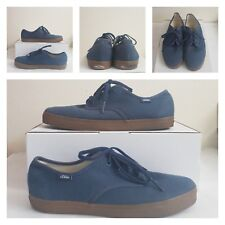 Vans Unisex Men's 8.5 Woman's US 10 Canvas Skate Shoes Navy Gum Bottom