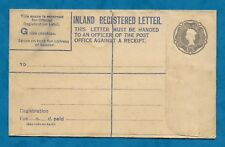 1960S UNUSED 1/3 PREPAID INLAND REGISTERED LETTER ENVELOPE