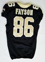 #86 Jarred Fayson of New Orleans Saints NFL Locker Room Game Issued Jersey
