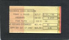 1987 Pink Floyd Concert Ticket Stub Momentary Lapse Of Reason Tour Providence RI