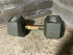 🔥Cap 40 Lb Pound Cast Iron Hex Dumbbell (Single) Pair Available