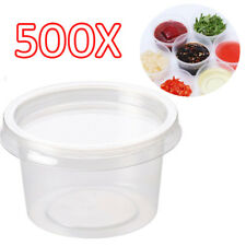 500x 4oz Clear Plastic Containers Tubs with Separate Lids Food Safe Takeaway
