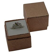 10 ROSE GOLD CARTA gioielli scatola di presentazione ad Anello 4.5cm x 4.3cm x 4cm di profondità