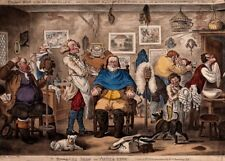 Vintage Barbershop & Salon Poster BARBER SHOP, ASSIZE TIME, James Gillray, 1811