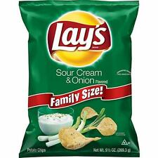 NEW LAYS FAMILY SIZE SOUR CREAM & ONION POTATO CHIPS 9.5 OZ BAG FREE SHIPPING