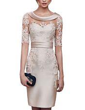 2018 Mother Of The Bride Dresses Lace Elegant Formal Evening Dresses Knee Length