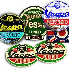 Vespa Aufkleber Pack 2, selbstklebend + Gratis rundes Erkennungszeichen Union Jack Aufkleber!