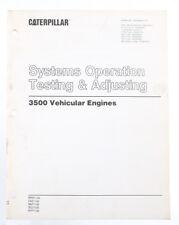 CATERPILLAR 3500 Vehicular Engines- Systems Operation Testing & Adjusting Manual