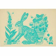"""Hare Rabbit Cotton Tea Towel """"The Buzz of Summer"""" by Ulster Weavers Made in UK"""