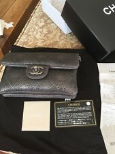 Authenti Bagc Chanel Gray Studded Mini Crossbody Bag