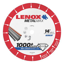 "Lenox 14"" x 1"" Hole Metal Max Diamond Edge Cut Off Wheel for Chop Saw #1972929"