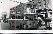 Pamlin repro photo postcard M2 Last days of Croydon Trolleybuses