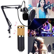 BM-800 Studio Condenser Microphone Live Streaming Broadcast Recording Mic +Stand