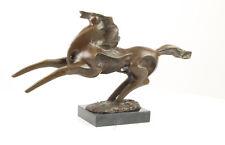 9937351-dss Moderne Bronze Skulptur Figur bäumendes Pferd stilisiert 27x49cm