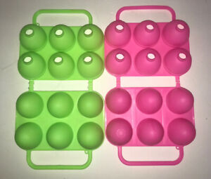 JELLO JIGGLERS LOT OF 2 EASTER EGG MOLDS SHOTS PINK And GREEN