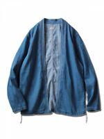 KAPITAL Men's 8oz Soft Denim KAKASHI Shirt Indigo Fast Shipping From Japan EMS