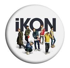 Kpop IKON RERURN Round badge Bobby B.I JINHWAN Chest Pin Button ZHZ2039