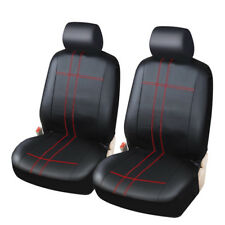 Durable PU Leather Pair Set Car Seat Covers for Front Seat Cushion All Seasons