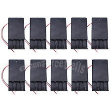 10 pcs 4 AAA 3A 1.5V Battery Holder Storage Case Box with On/Off Switch US Stock