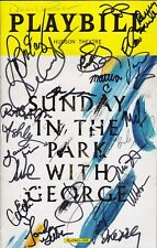 SUNDAY IN THE PARK WITH GEORGE Signed Autographed CAST Photo JAKE GYLLENHAAL +