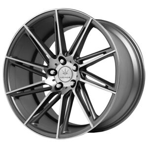 "Verde V25 Quantum 20x9 5x4.5"" +20mm Gunmetal/Machined Wheel Rim 20"" Inch"