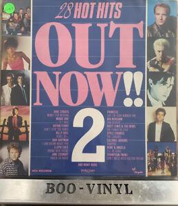 VARIOUS ARTISTS: 28 HOT HITS OUT NOW 2, 33 RPM DOUBLE VINYL ALBUM EX CON