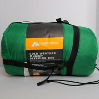 Ozark Trail Camping 10F degree Cold Weather Mummy Sleeping Bag (Green) (7x2.9ft)